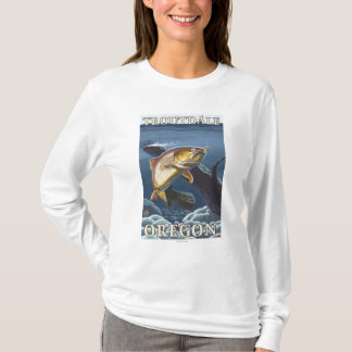 Trout Fishing Cross-Section - Troutdale, T-Shirt