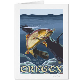 Trout Fishing Cross-Section- Vintage Travel 2 Card