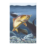 Trout Fishing Cross-Section - West Yellowstone, Canvas Print