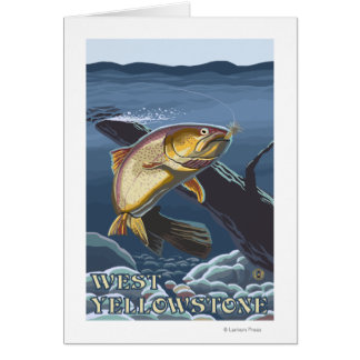 Trout Fishing Cross-Section - West Yellowstone, Card