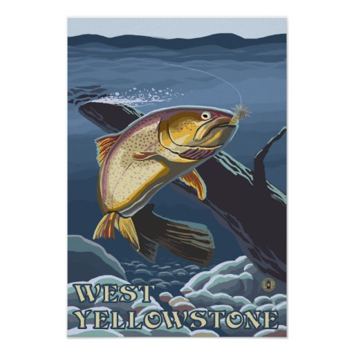 Trout Fishing Cross-Section - West Yellowstone, Poster