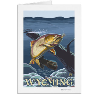 Trout Fishing Cross-Section - Wyoming Card