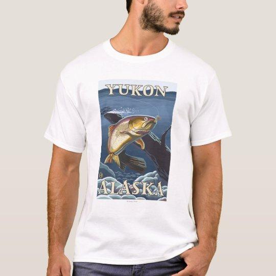 Trout Fishing Cross-Section - Yukon, Alaska T-Shirt