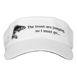 Trout Fishing Design Sun Visor Hat