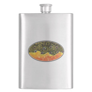 Trout Fishing Hip Flask