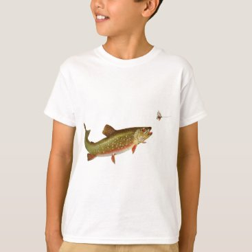 Beach Themed trout fishing illustration fisherman shirt