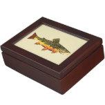 Trout Fishing Keepsake Boxes