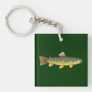 Trout Fishing Keychain