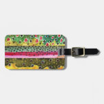 Trout Fishing Luggage Tag