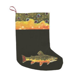 Trout Fishing Small Christmas Stocking