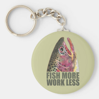Trout Fishing More Basic Round Button Keychain