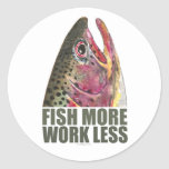 Trout Fishing More Classic Round Sticker