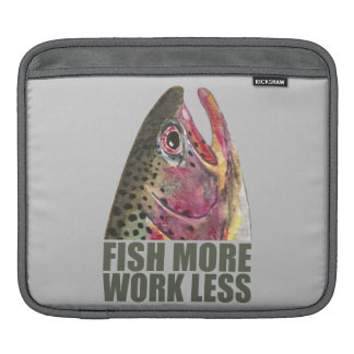 Trout Fishing More iPad Sleeve