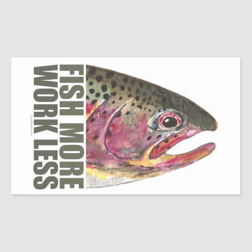 Trout Fishing More Rectangular Stickers