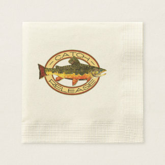 Trout Fishing Paper Napkin