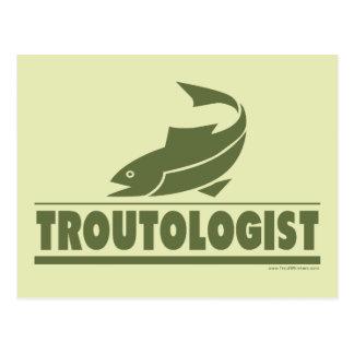 Trout Fishing Postcard