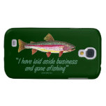 Trout Fishing Quote Galaxy S4 Covers