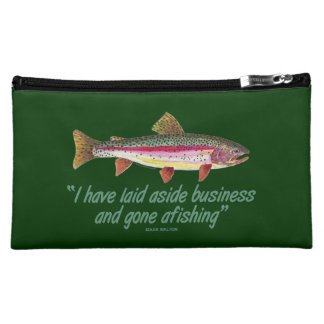 Trout Fishing Quote Makeup Bag