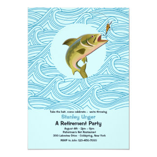 Trout Fishing Retirement Party Invitation