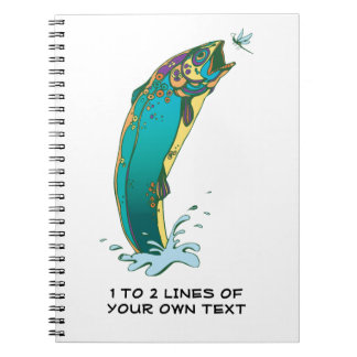 Trout Fishing Spiral Notebook