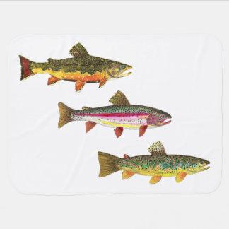 Trout Fishing Stroller Blanket