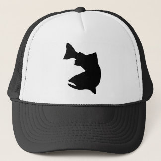 TROUT FISHING VECTOR GRAPHIC TRUCKER HAT
