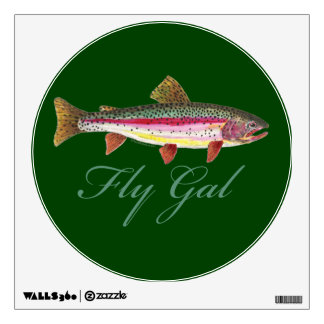 Trout Fishing, Women Wall Decals
