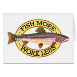 Trout Fly Fisherman Card