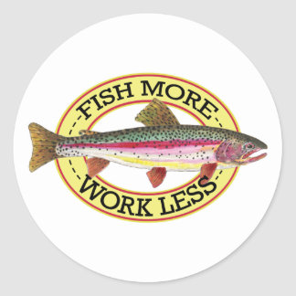Trout Fly Fisherman Classic Round Sticker
