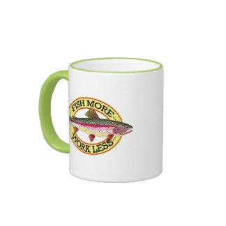 Trout Fly Fisherman Ringer Coffee Mug