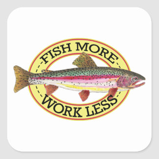 Trout Fly Fisherman Square Sticker