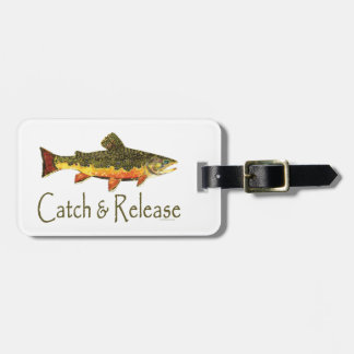 Trout Fly Fishermen Bag Tag