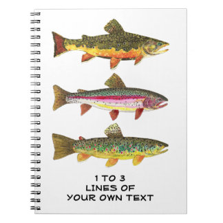 Trout Fly Fishermen Notebook