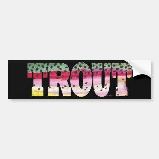 Trout Fly Fishing Bumper Sticker