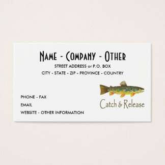 Trout Fly Fishing Business Card