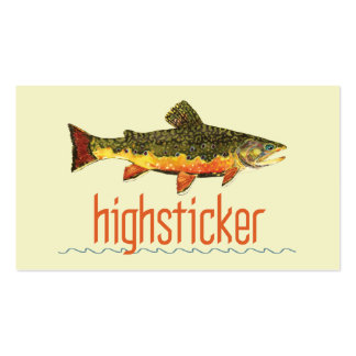 Trout Fly Fishing Business Card Template