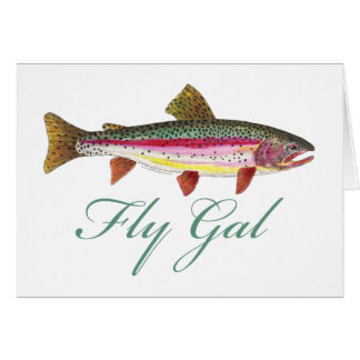 Trout Fly Fishing Greeting Cards