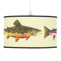 Trout Fly Fishing Ceiling Lamp