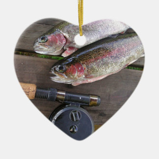 Trout Fly Fishing Ceramic Ornament