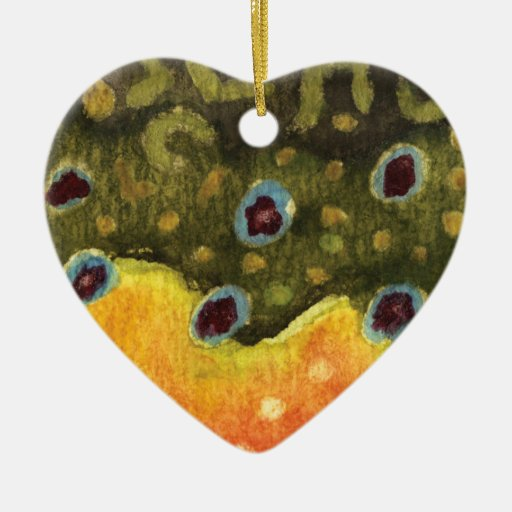 Trout Fly Fishing Christmas Ornaments