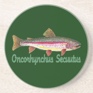 Trout Fly Fishing Coaster