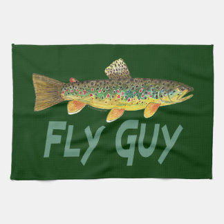 Trout Fly Fishing Hand Towel