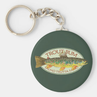 Trout Fly Fishing Keychain