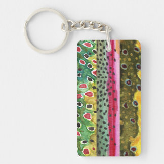 Trout Fly Fishing Acrylic Key Chains