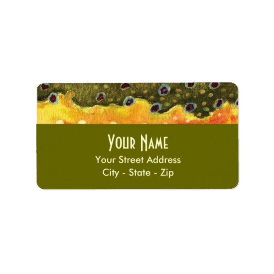 Trout Fly Fishing Label