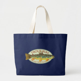 Trout Fly Fishing Large Tote Bag