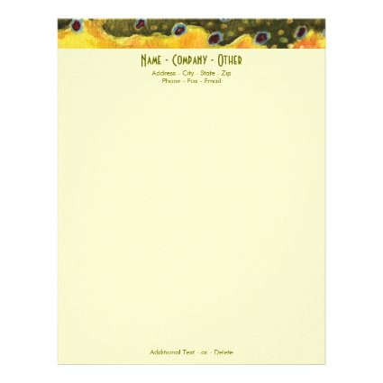 Trout Fly Fishing Letterhead Template