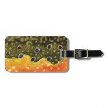 Trout Fly Fishing Luggage Tag