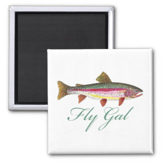 Trout Fly Fishing Magnet