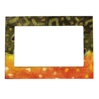 Trout Fly Fishing Magnetic Photo Frame